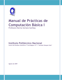 Manual de Prácticas de Computación Básica I