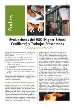 Evaluaciones del HSC