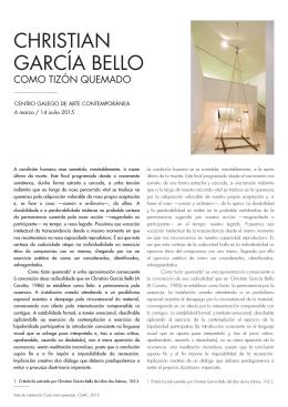 Como tizón quemado, CGAC - Museos de Galicia
