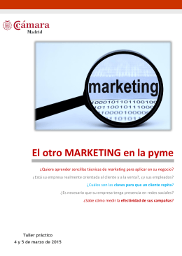 El otro marketing en la pyme