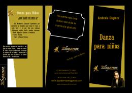 Descarga el folleto sobre Danza Para Niños