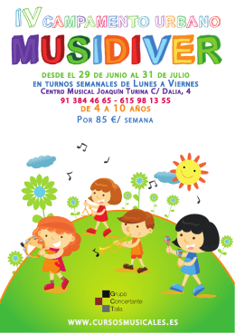 Descargar folleto del MUSIDIVER