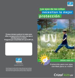 Folleto Consumidor Crizal Kids UV.indd