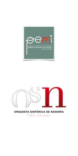 Folleto presentación PEMI breve - Orquesta Sinfónica de Navarra