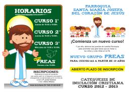 Folleto PREAS - Parroquia de Santa María Josefa del Corazón de