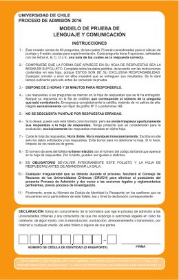 PRIMERA SECCIÓN - Sistema Único de Admisión del Consejo de