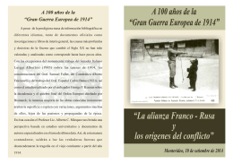 FOLLETO CONFERENCIA GUERRA MUNDIAL - IMES