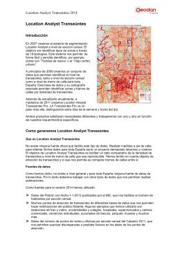 Nuevos conjuntos de datos en Location Analyst - GIS On-line