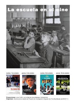 La escuela en el cine (Folleto A4)