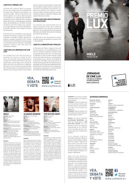 premio lux - Muestra de Cine Europeo Ciudad de Segovia. MUCES