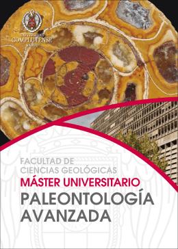 PALEONTOLOGÍA AVANZADA - Universidad de Alcalá