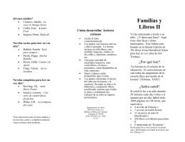Familias y Libros II