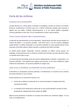Carta de las víctimas - Office of the Director of Public Prosecutions