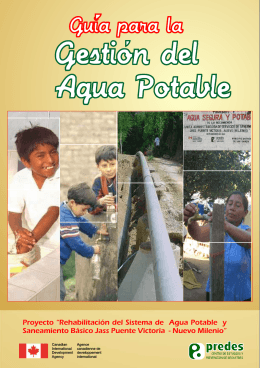 folleto agua potable