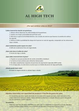 Folleto 2012 para PDF - Rindes y Cultivos DAS
