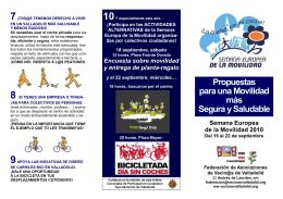 FOLLETO: «Propuestas para una movilidad más segura y sostenible