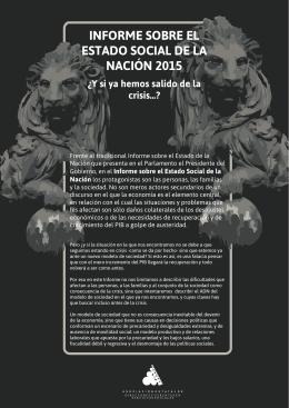 informe sobre el estado social de la nación 2015