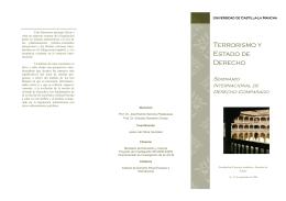 """Programa del Seminario """"Terrorismo y Estado de Derecho"""""""
