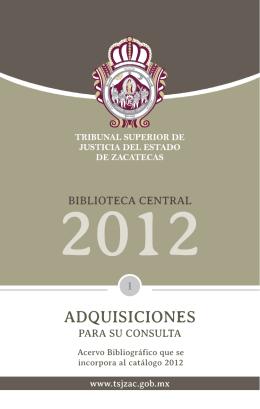 folleto libros.indd - Tribunal Superior de Justicia del Estado de