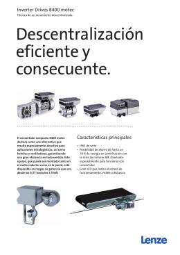 Folleto Inverter Drives 8400 motec