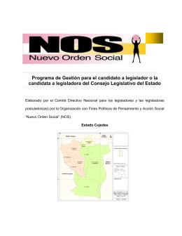 NOS. Folleto Informativo Organizacional