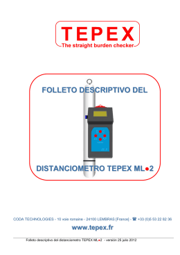 FOLLETO DESCRIPTIVO DEL DISTANCIOMETRO TEPEX ML 2