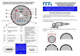 FEPA safety leaflet diamond saws