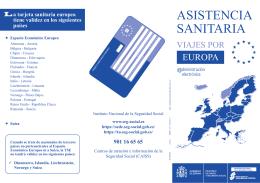 Utilización de la tarjeta sanitaria europea