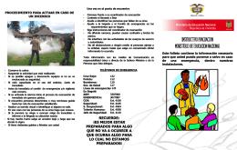 Instructivo simulacro de evacuación 2009