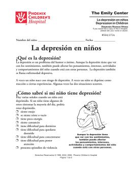 La depresión en niños - Phoenix Children`s Hospital