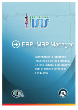 Folleto resumen características ERP Manager