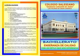 FOLLETO INFORMATIVO DE BACHILLERATO