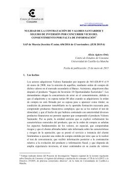Nulidad de la contratación de valores Santander y