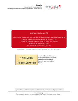 el folleto La Independencia de las Canarias, coronación y primer