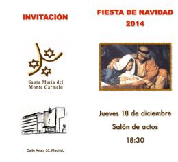 Folleto Navideño copia - Residencia Santa María del Monte Carmelo