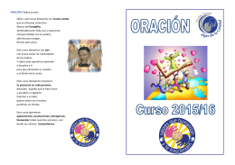 Folleto Oracion inicio curso 15 16