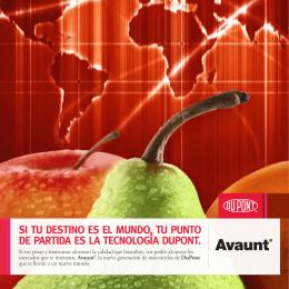 Folleto Avaunt® Manzana y Pera