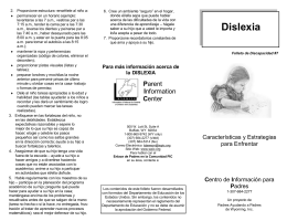 Dislexia - Parent Information Center
