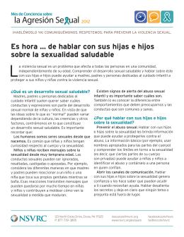 de hablar con sus hijas e hijos sobre la sexualidad saludable