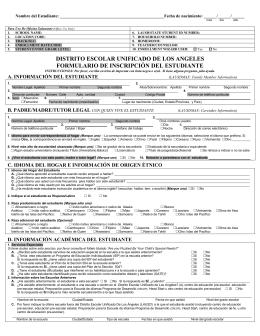 distrito escolar unificado de los angeles formulario de inscripción
