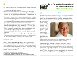 De la Fundación Internacional del Temblor Esencial Manual del