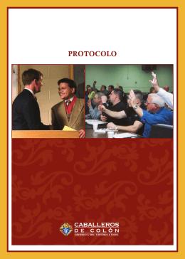 El Folleto de Protocolo de Caballeros de Colón (#1612)