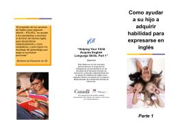 Como ayudar a su hijo a adquirir habilidad para expresarse en inglés