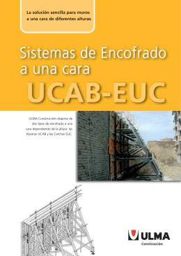 Folleto encofrado a una cara - Cerchas UCAB-EUC