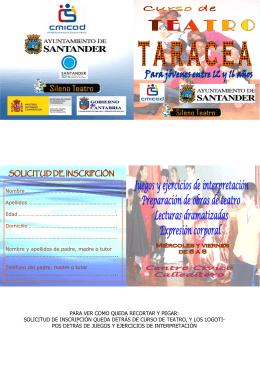 Folleto Taracea 2009-2010 cara A y B