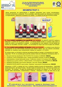 folleto desinfectest