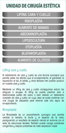 LIFTING CARA Y CUELLO RINOPLASTIA AUMENTO