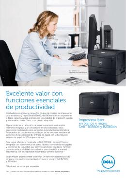 Excelente valor con funciones esenciales de productividad