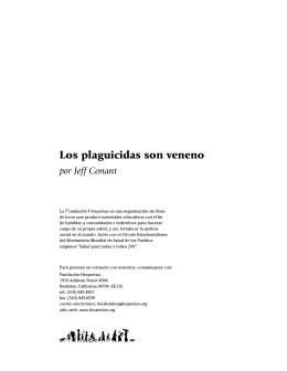 Los plaguicidas son veneno (folleto entero)