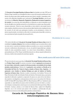 Escuela de Tecnología Pianística de Buenos Aires www.tecnopiano